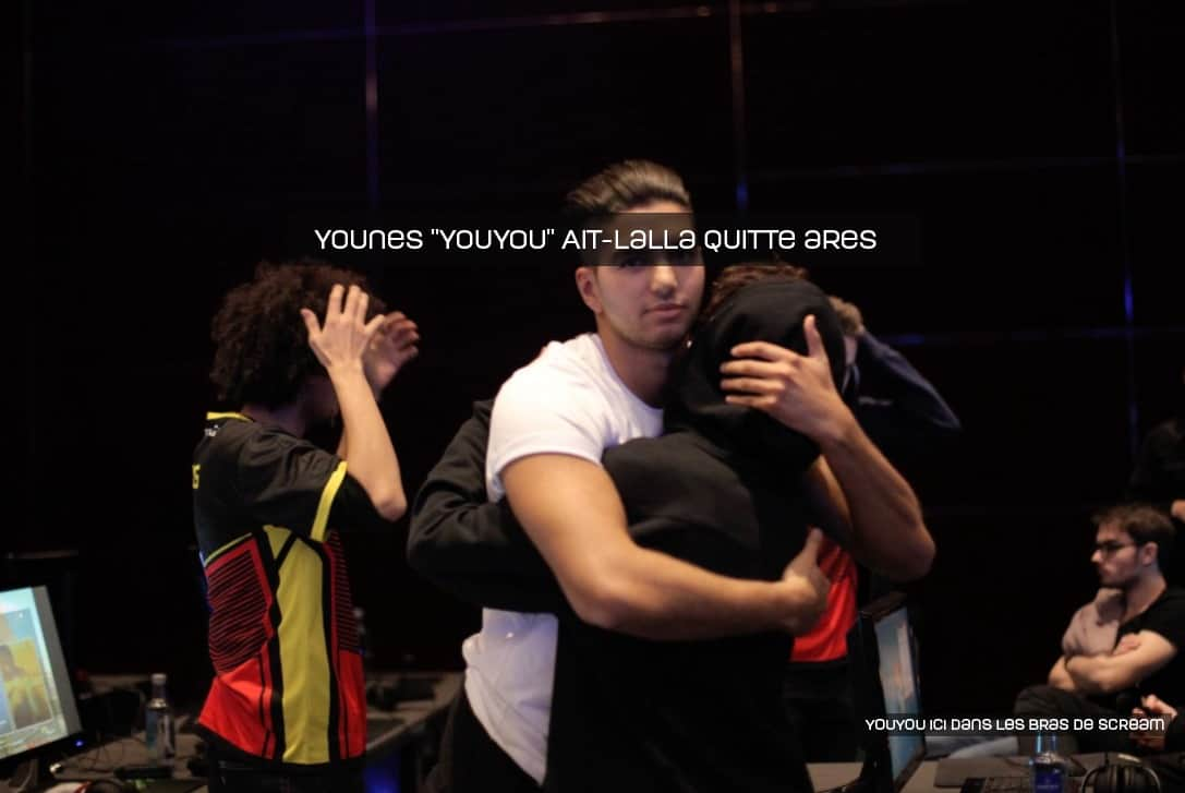 YOUYOU quitte ARES