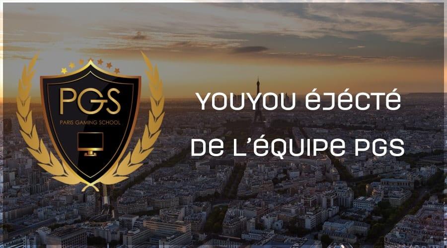 YOUYOU éjécté de l'équipe Paris Gaming