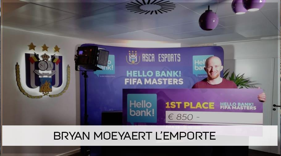Bryan Moeyaert remporte la Hello Bank! FIFA Masters 2018