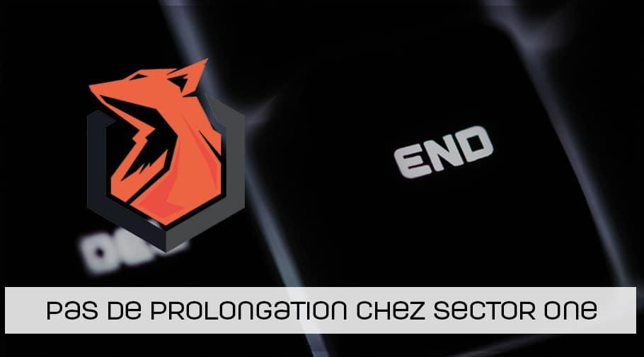 Pas de prolongation de contrats pour les joueurs CSGO de chez Sector One en 2019