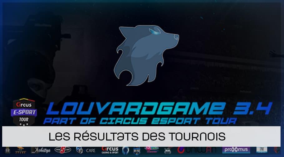 Résultats des tournois de la Louvardgame 3.4
