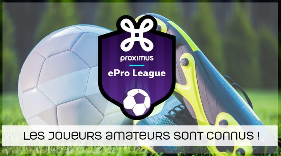FIFA ePro League - les joueurs des clubs FIFA19 de division 1 belge