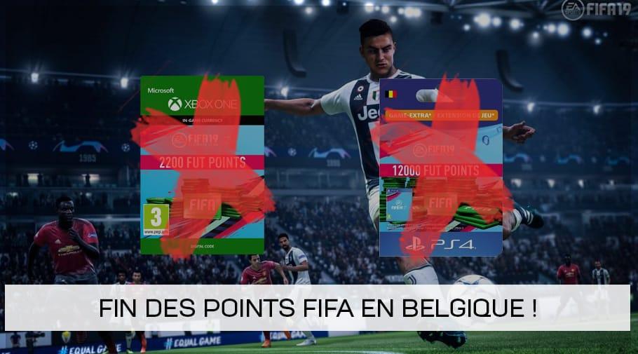 Fin des points FUT FIFA en Belgique