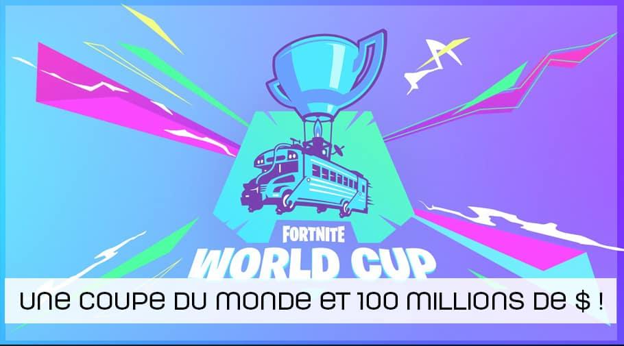 Une coupe du monde et 100 millions de dollars de cashprize en 2019 pour Fortnite
