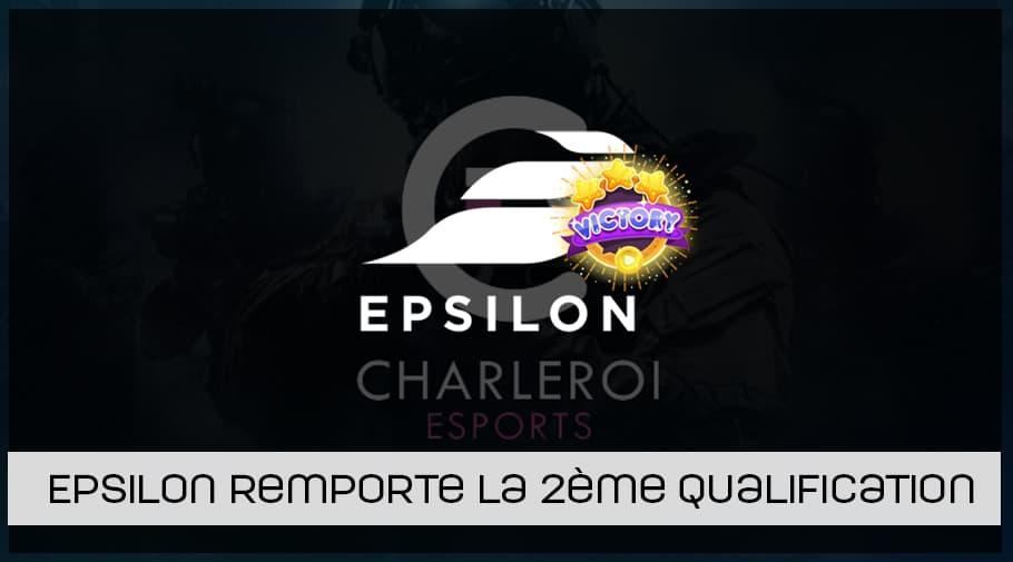 Epsilon remporte la 2ème qualification de la Charleroi esports