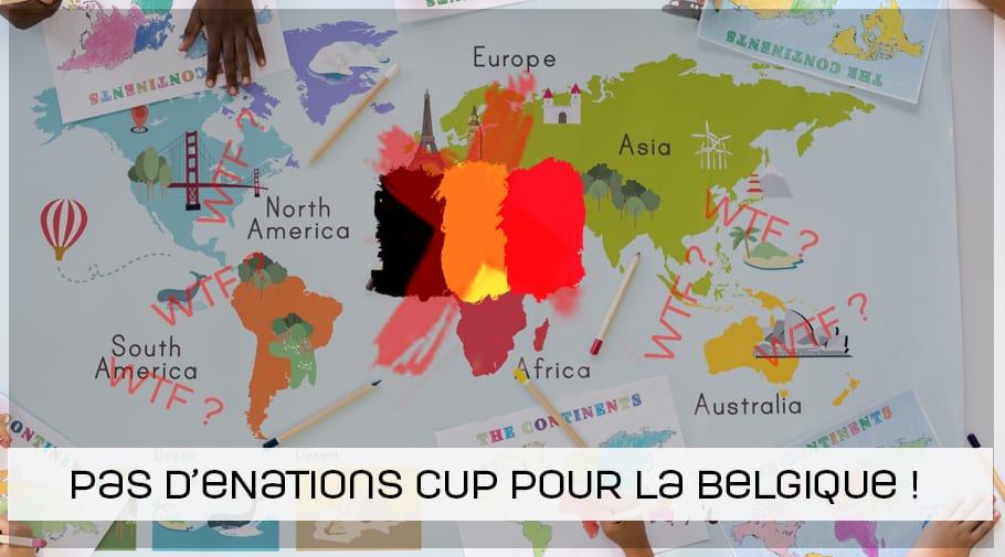 Pas d'eNATIONS Cup FIFA 19 pour la Belgique