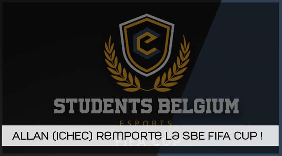 Allan de l'ICHEC remporte la Students Belgium esports FIFA cup