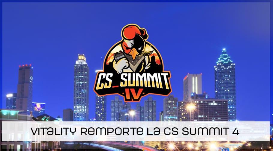 Vitality remporte la CS Summit 4