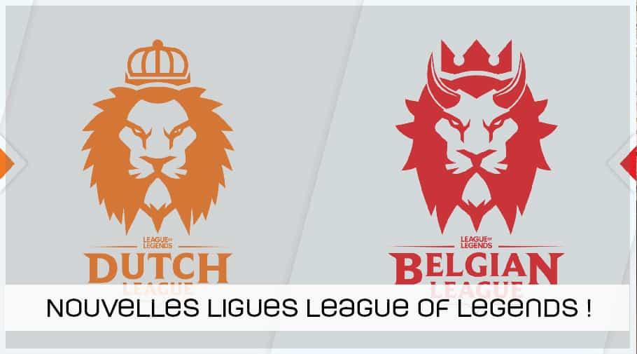 Nouvelles ligues League of Legends en Belgique et aux Pays-Bas annoncé par RIOT Games et 4entertainment