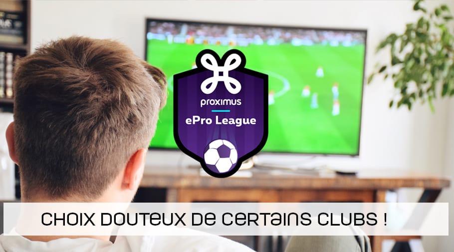 Choix douteux de certains clubs d'ePro League concernant les joueurs