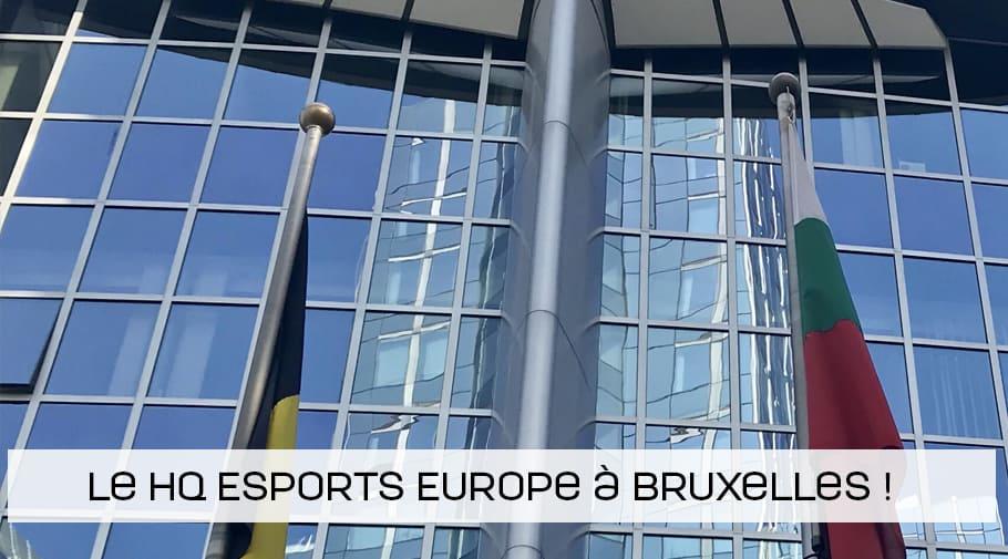 Le siège de Esports Europe établit à Bruxelles