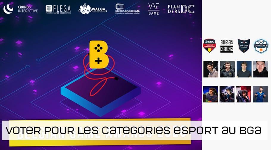 3 catégories esport au Belgian Game Awards