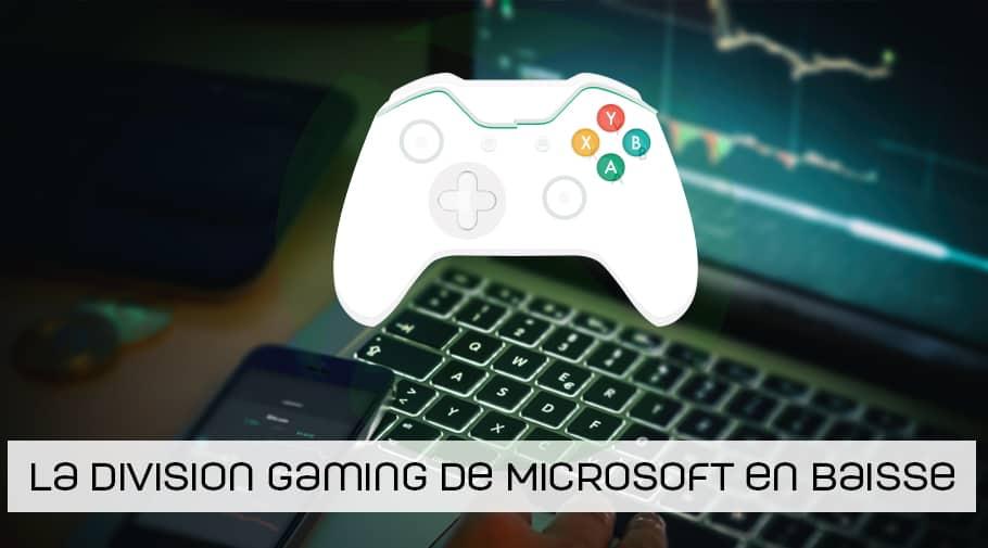 Le chiffre d'affaires de la division gaming de Microsoft en baisse