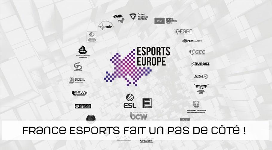 France Esports se distancie temporairement de Esports Europe