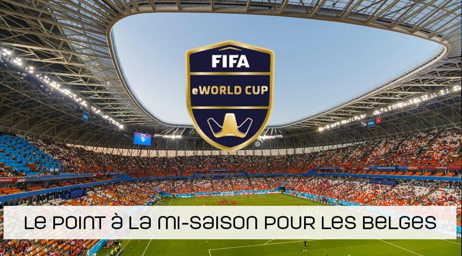 Le point a la mi saison des qualificaitons pour la eworld cup pour les belges