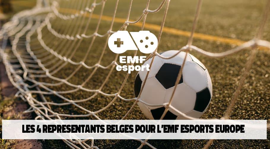 Les 4 joueurs belges FIFA qualifies pour l'EMF Esports Europe