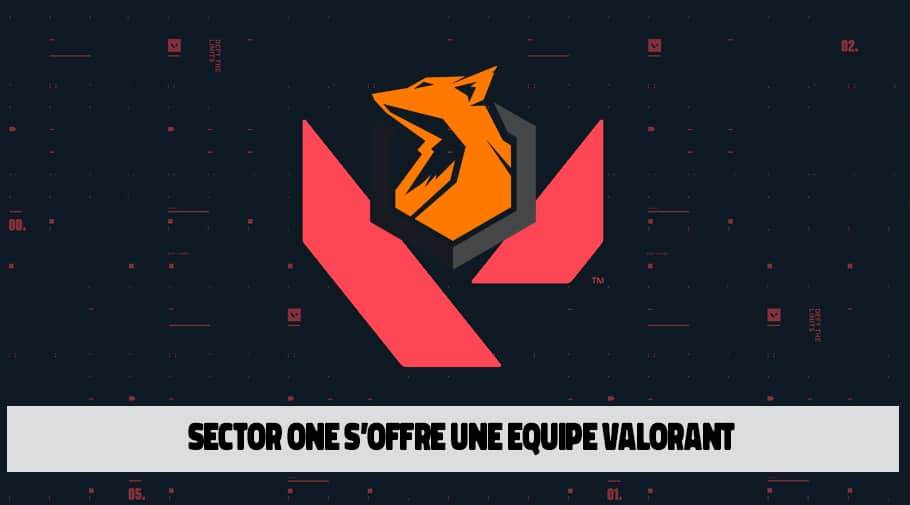 Sector One s'offre une equipe Valorant