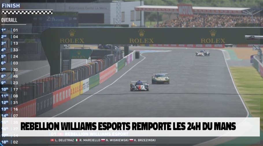 Rebellion Williams Esports remporte les 24h du mans virtuelles
