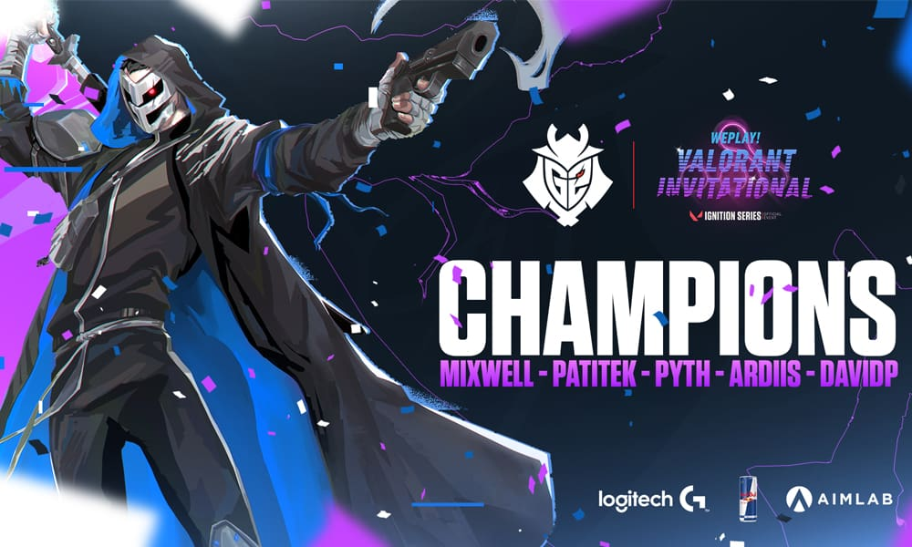 G2 Esports avec le belge DavidP remporte le WePlay Valorant Invitational Ignition Series