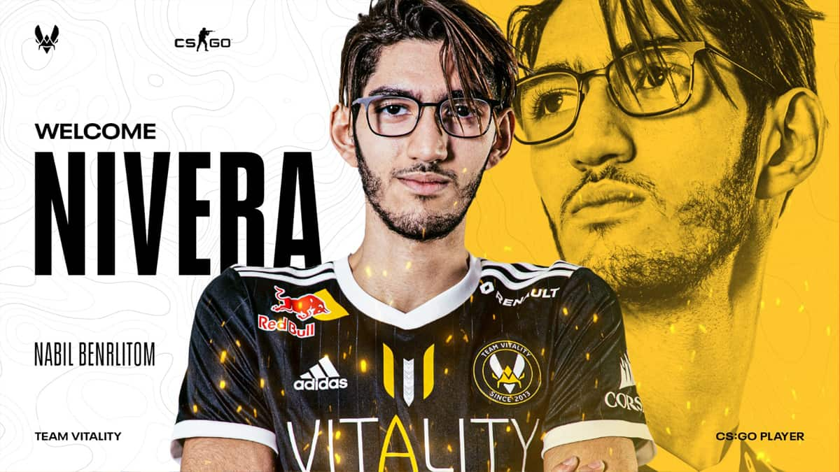 Le joueur belge Nivera rejoint l equipe Vitality CSGO